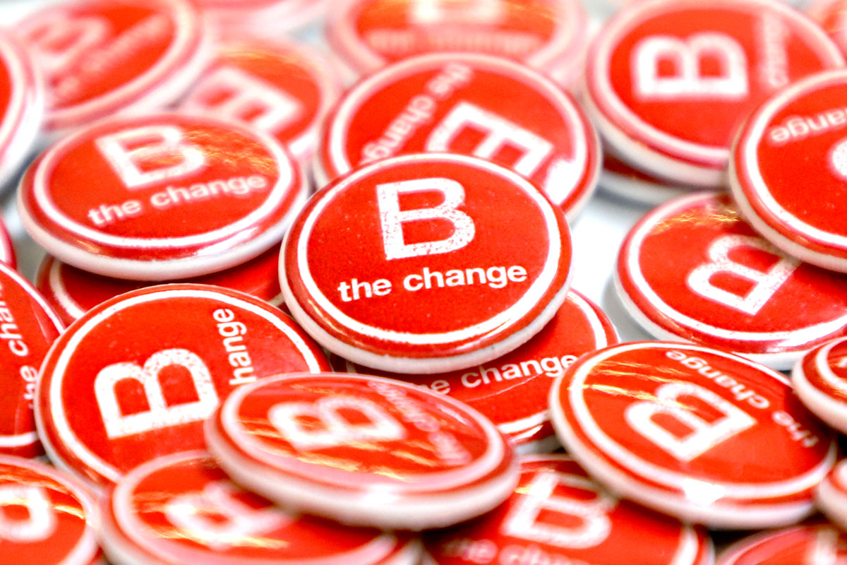 B Corporation B the change buttons