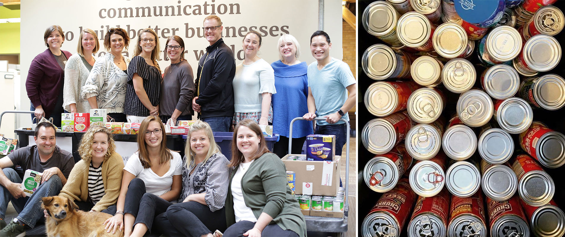 Beehive staff collecting food at The Sheridan Story
